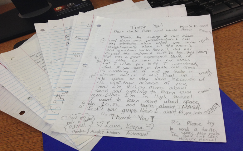 """Keiki Letters: Kids Respond to """"Journey Through the Universe"""" Event"""