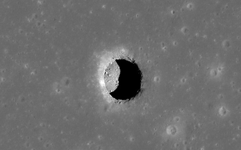 Lunar Pits May Shelter Astronauts on Moon