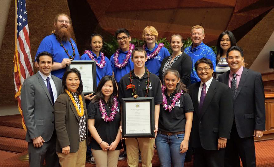 Moon RIDERS Students Honored at State Capitol