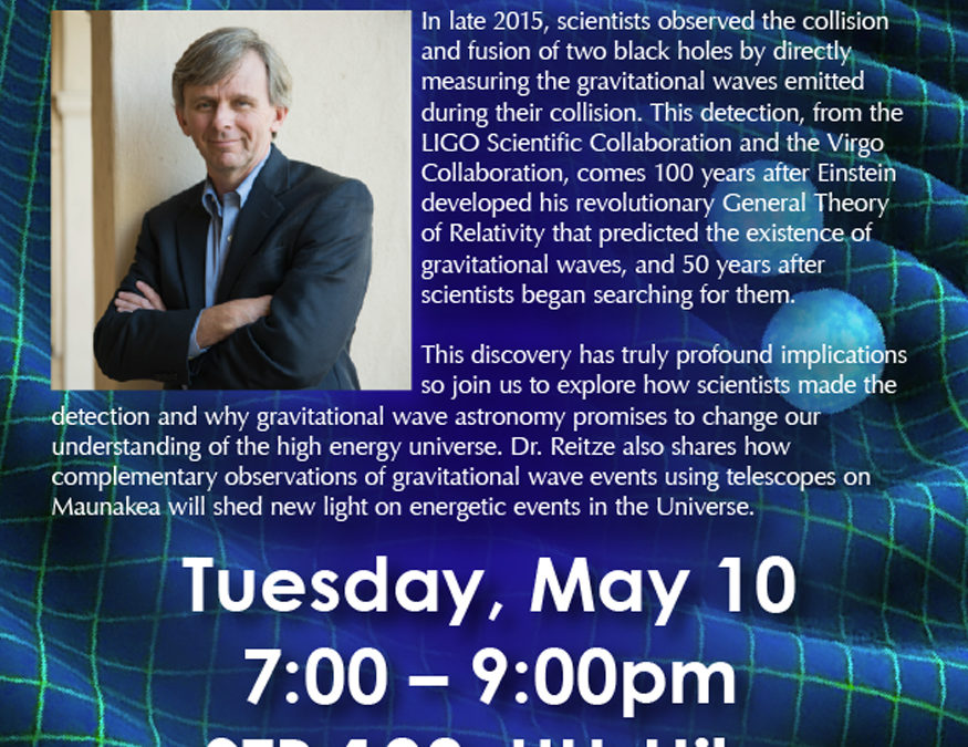 Scientist to Discuss Gravitational Wave Astronomy